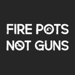 fire pots not guns pottery shirt