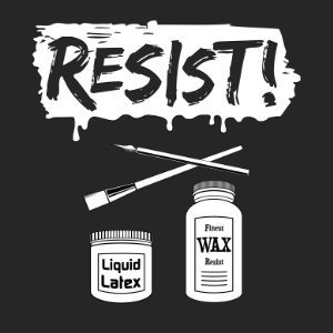 resist pottery shirt design